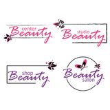 Set of beauty industry. Logos for beauty salon, center and studio stock illustration