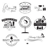 Set of beauty logo templates Royalty Free Stock Photography