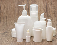 Set of beauty products with copy space Royalty Free Stock Image
