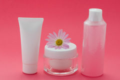 Set of Beauty Products Royalty Free Stock Photography