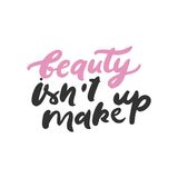 Set of beauty quotes.  Hand lettering and custom typography for your design. Vector illustration Stock Image