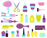 Set of beauty salon icons Royalty Free Stock Image