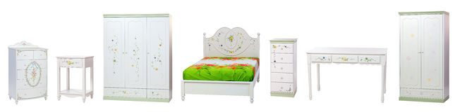 Set of bedroom furniture Royalty Free Stock Photos