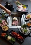 Set of beef and seafood for Yakiniku Royalty Free Stock Image
