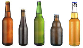 Set of beer bottles Royalty Free Stock Image