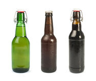 Set of Beer bottles isolated Royalty Free Stock Photo