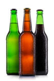 Set of beer bottles isolated Stock Photos