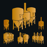 Set - beer brewery elements, icons, logos. Vector Stock Photos