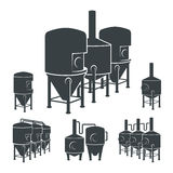 Set - beer brewery elements, icons, logos. Vector Royalty Free Stock Image