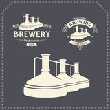 Set - beer brewery elements, icons, logos. Vector Stock Photo