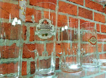 Set of beer cup glasses Stock Images