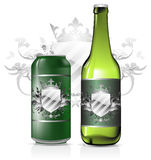 Set of beer design Royalty Free Stock Photo