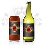 Set of beer design Royalty Free Stock Photography