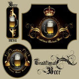 Set of beer elements Royalty Free Stock Images
