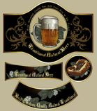 Set of beer elements Royalty Free Stock Photo