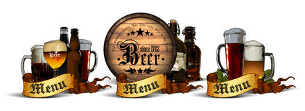 Set of beer elements Stock Photo