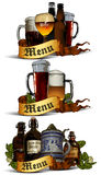 Set of beer elements Stock Photography
