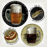 Set of beer elements Stock Images