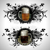 Set of beer elements Royalty Free Stock Photos