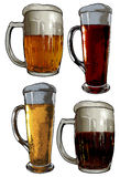 Set of beer elements Royalty Free Stock Photography