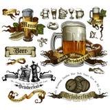 Set of beer elements Stock Photos