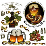 Set of beer elements Stock Image