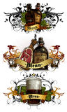Set of beer elements Royalty Free Stock Image