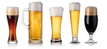 Set of beer Glass Stock Photo