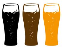 Set of beer glasses Royalty Free Stock Images