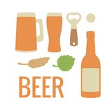 Set beer icon. Vector flat illustration. For web, info graphics. Set beer icon. Vector flat illustration. For web, info graphics Stock Image