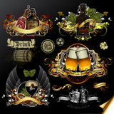Set of beer icons Royalty Free Stock Photography