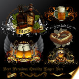 Set of beer icons royalty free stock photo