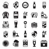 Set of beer icons. Stock Images