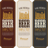 Set of beer labels Royalty Free Stock Images