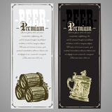 Set of beer labels Stock Images