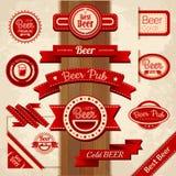Set of beer labels. Set of vintage beer labels stock illustration