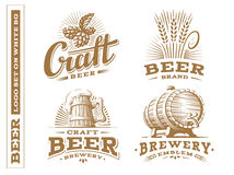 Set beer logo - vector illustration, design emblem brewery royalty free stock image