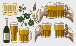 Set of beer Stock Images