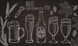 Set of beer objects. Stock Image