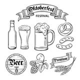 Set  beer oktoberfest Stock Photo