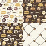 Set of beer seamless patterns Royalty Free Stock Photo