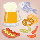 Set of beer snack Royalty Free Stock Photos