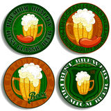 Set of beer tags. Four labels for beer, this illustration can be used for your design vector illustration