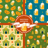 Set of beer theme patterns Stock Photos