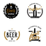 Set of beer themed logos, badges, labels. Brewery emblems, Craft beer signs / symbols. Vintage logo templates Stock Image