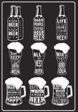 Set of beer typography vintage prints. Quotes about beer Royalty Free Stock Photo