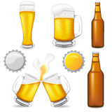Set of beer vector illustration Stock Images