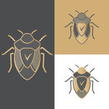 A set of beetles of icons, symbols and logos for antivirus, for mobile and computer applications. Royalty Free Stock Image