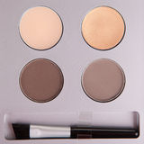 Set of beige eyeshadows Stock Image