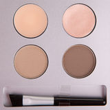 Set of beige eyeshadows Stock Photo